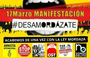 Salamanca Manifestación contra Leyes Mordaza Desamordázate Marzo 2018