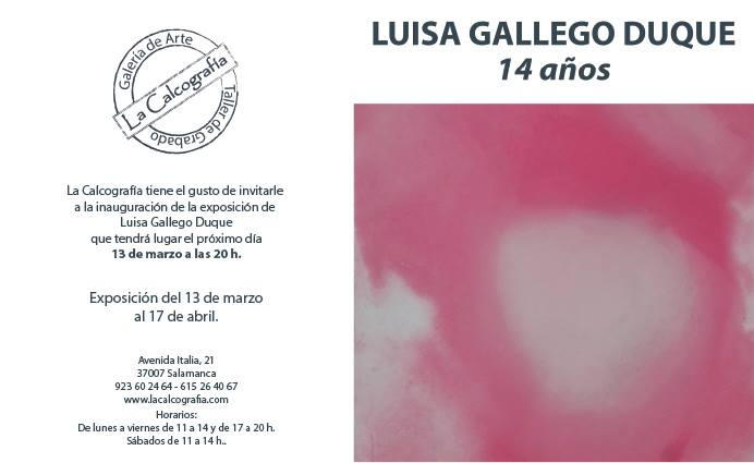La Calcografía Luisa Gallego Luque Salamanca Marzo abril 2018