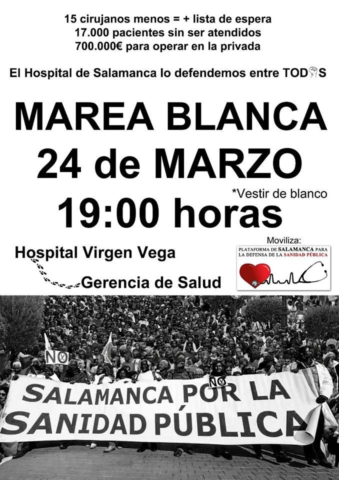 Salamanca Marea Blanca Marzo 2018