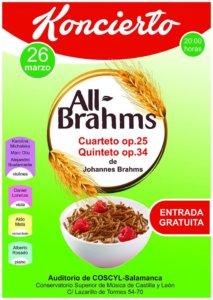 Conservatorio Superior de Música de Castilla y León COSCYL All Brahms Salamanca Marzo 2018