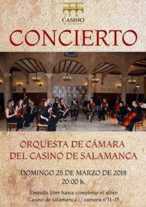 Casino de Salamanca Orquesta de Cámara Marzo 2018