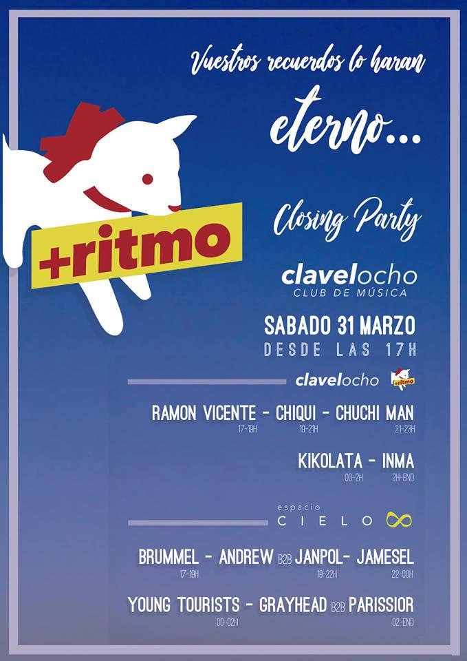 Clavel Ocho Closing Party Salamanca Marzo 2018