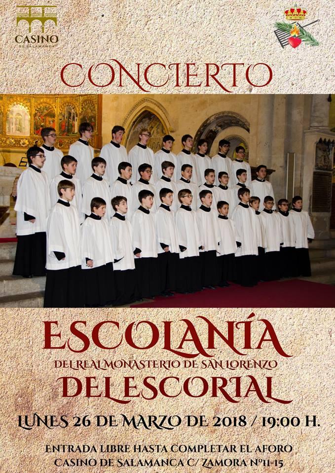 Casino de Salamanca Escolanía del Real Monasterio de San Lorenzo del Escorial Marzo 2018