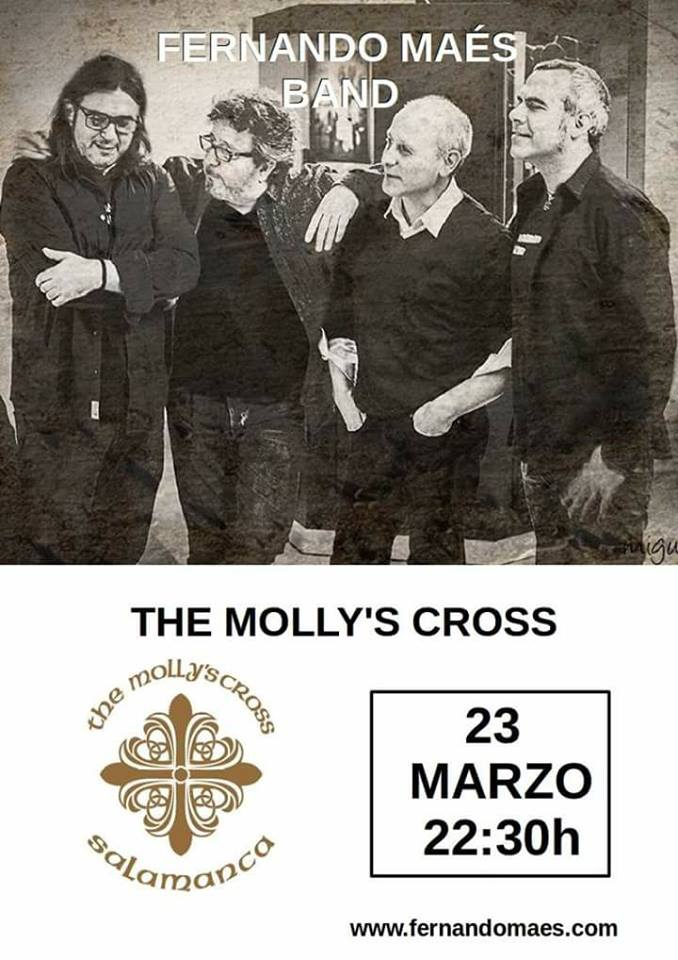 The Molly's Cross Fernando Maés Band Salamanca Marzo 2018