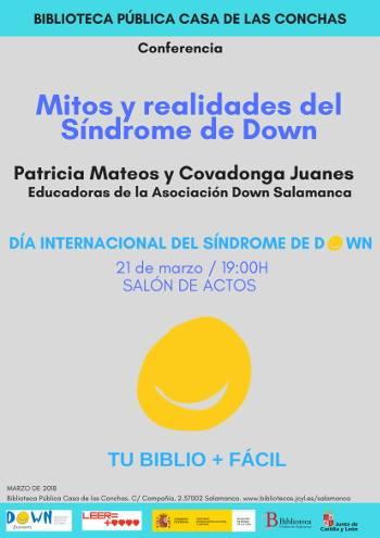 Casa de las Conchas Mitos y realidades del Síndrome de Down Salamanca Marzo 2018