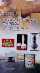 Ciudad Rodrigo XXXVI Feria de Cerámica y Alfarería Marzo abril 2018