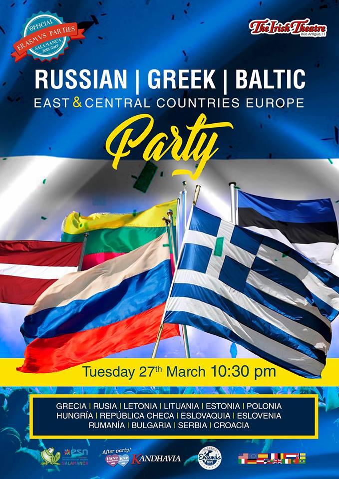 The Irish Theatre Fiesta Griega, Rusa, Báltica y Este y Centro de Europa Salamanca Marzo 2018