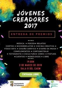 Centro de las Artes Escénicas y de la Música CAEM XVIII Certamen Jóvenes Creadores 2017 Salamanca Marzo 2018