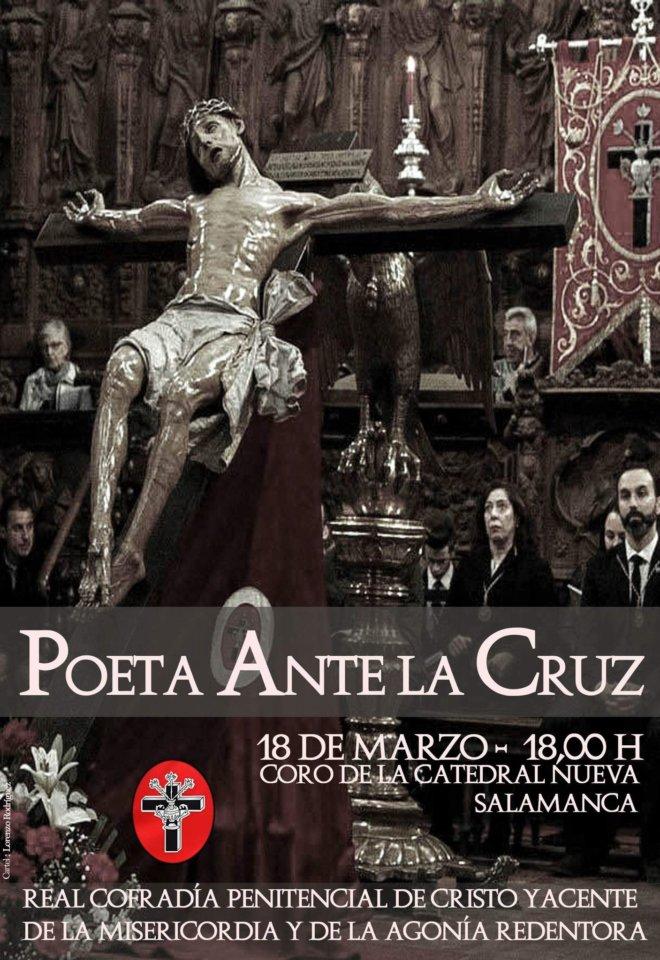Catedral Nueva Poeta ante la Cruz Salamanca Marzo 2018