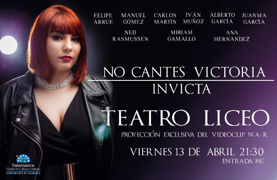 Teatro Liceo No Cantes Victoria Salamanca Abril 2018