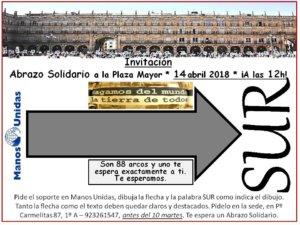 Plaza Mayor IX Abrazo a la Plaza Manos Unidas Salamanca Abril 2018