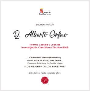 Casa de las Conchas Encuentro con... Alberto Orfao Salamanca Marzo 2018