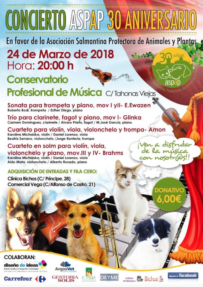 Conservatorio Profesional de Música de Salamanca Concierto Benéfico A.S.P.A.P. Salamanca Marzo 2018