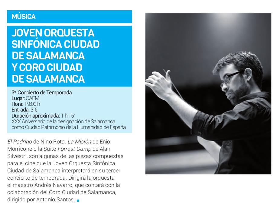 Centro de las Artes Escénicas y de la Música CAEM Joven Orquesta Sinfónica Ciudad de Salamanca y Coro Ciudad de Salamanca Abril 2018
