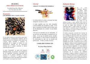 Facultad de Geografía e Historia Mujeres. Discursos Plásticos Salamanca Marzo 2018