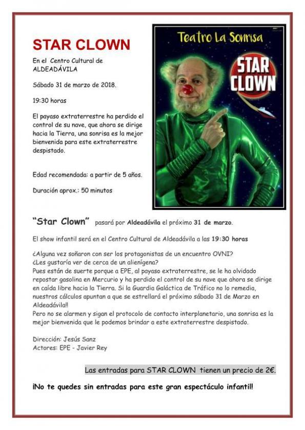 Aldeadávila de la Ribera Star clown Marzo 2018