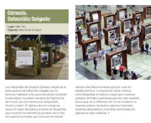 Información Salamanca Génesis. Sebastião Salgado Marzo abril 2018