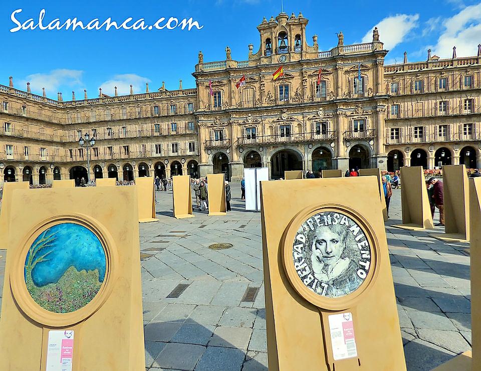 Plaza Mayor Rostros del olvido Salamanca Marzo 2018