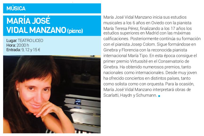 Teatro Liceo María José Vidal Manzano Salamanca Abril 2018