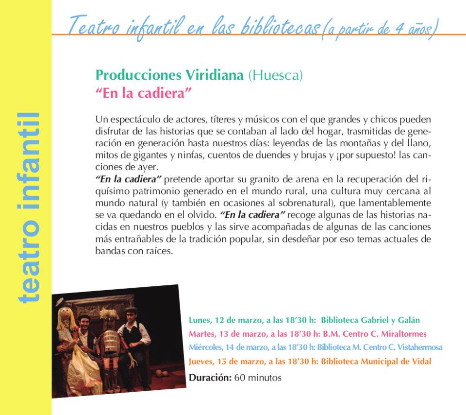 Salamanca Producciones Viridiana En la cadiera Marzo 2018