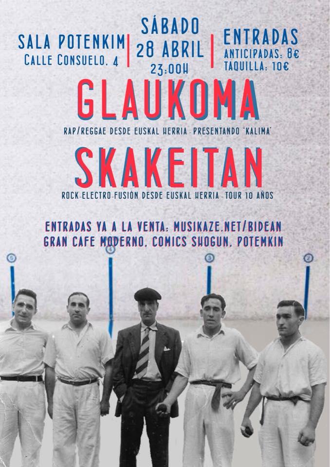 Potemkim Glaukoma + Skakeitan Salamanca Abril 2018