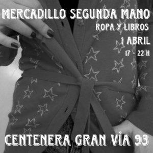 Centenera Mercadillo de Segunda Mano de Ropa y Libros 1 de abril de 2018 Salamanca