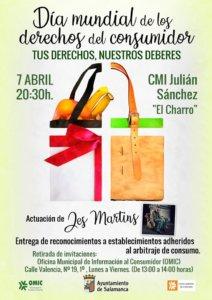 Julián Sánchez El Charro Día Mundial de los Derechos del Consumidor Salamanca Abril 2018