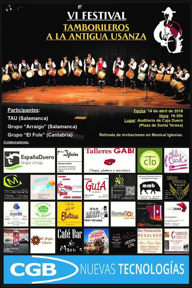 Teatro EspañaDuero VI Festival Tamborileros a la Antigua Usanza Salamanca Abril 2018