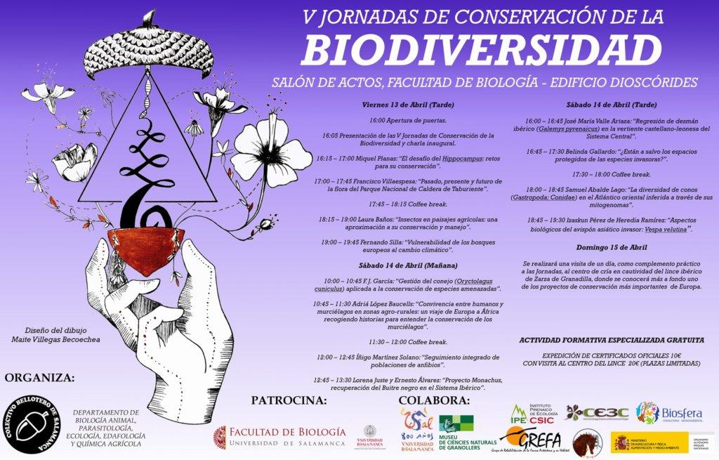 Facultad de Biología V Jornadas de Conservación de la Biodiversidad Universidad de Salamanca Abril 2018