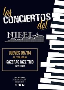 Niebla Sazerac Jazz Trío Salamanca Abril 2018