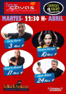 Las Cavas del Champán Comedy Night Salamanca Abril 2018