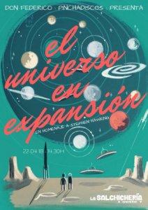 La Salchichería Oeste 7 Don Federico Pinchadiscos El universo en expansión Salamanca Abril 2018