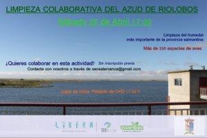 Azud de Riolobos Limpieza Colaborativa SEO Salamanca Abril 2018