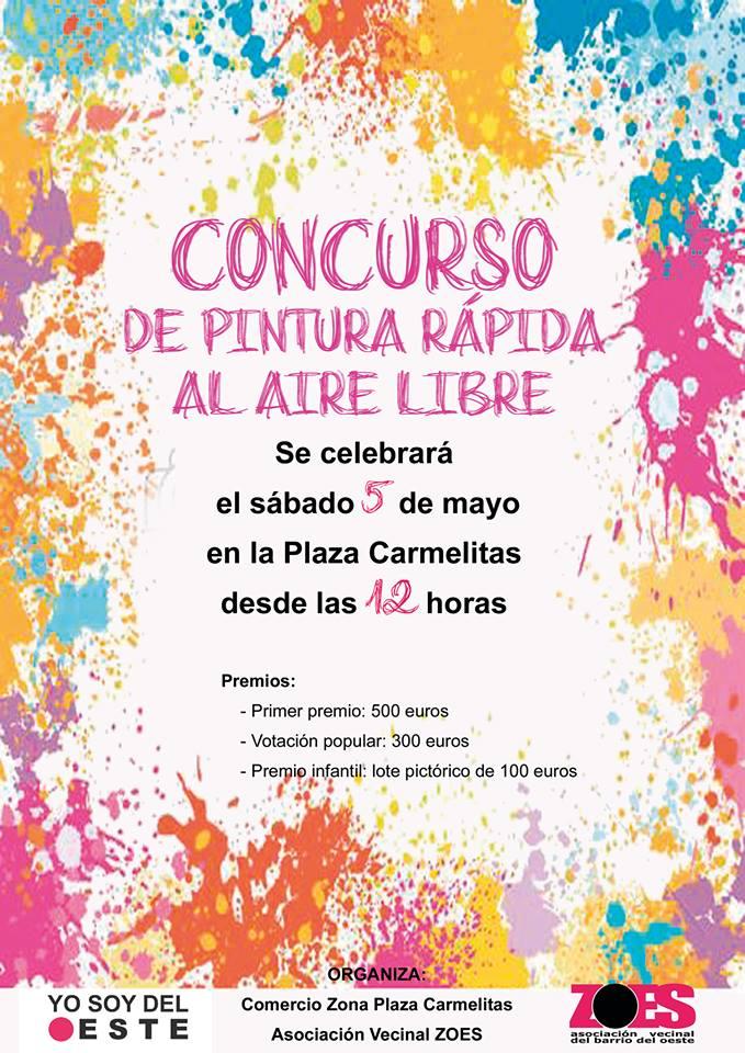 Plaza de Carmelitas Concurso de Pintura Rápida al Aire Libre ZOES Salamanca Mayo 2018