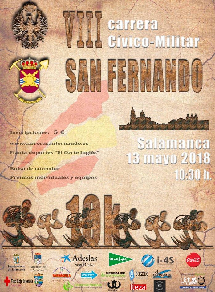 Salamanca VIII Carrera Cívico-Militar San Fernando Mayo 2018