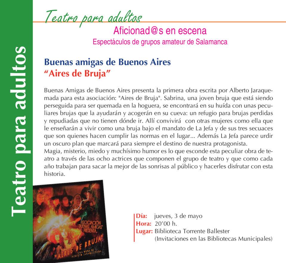Torrente Ballester Aires de bruja Salamanca Mayo 2018