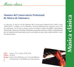Torrente Ballester Asociación de Alumnos del Conservatorio Superior de Castilla y León ASECOSCYL Salamanca Abril 2018