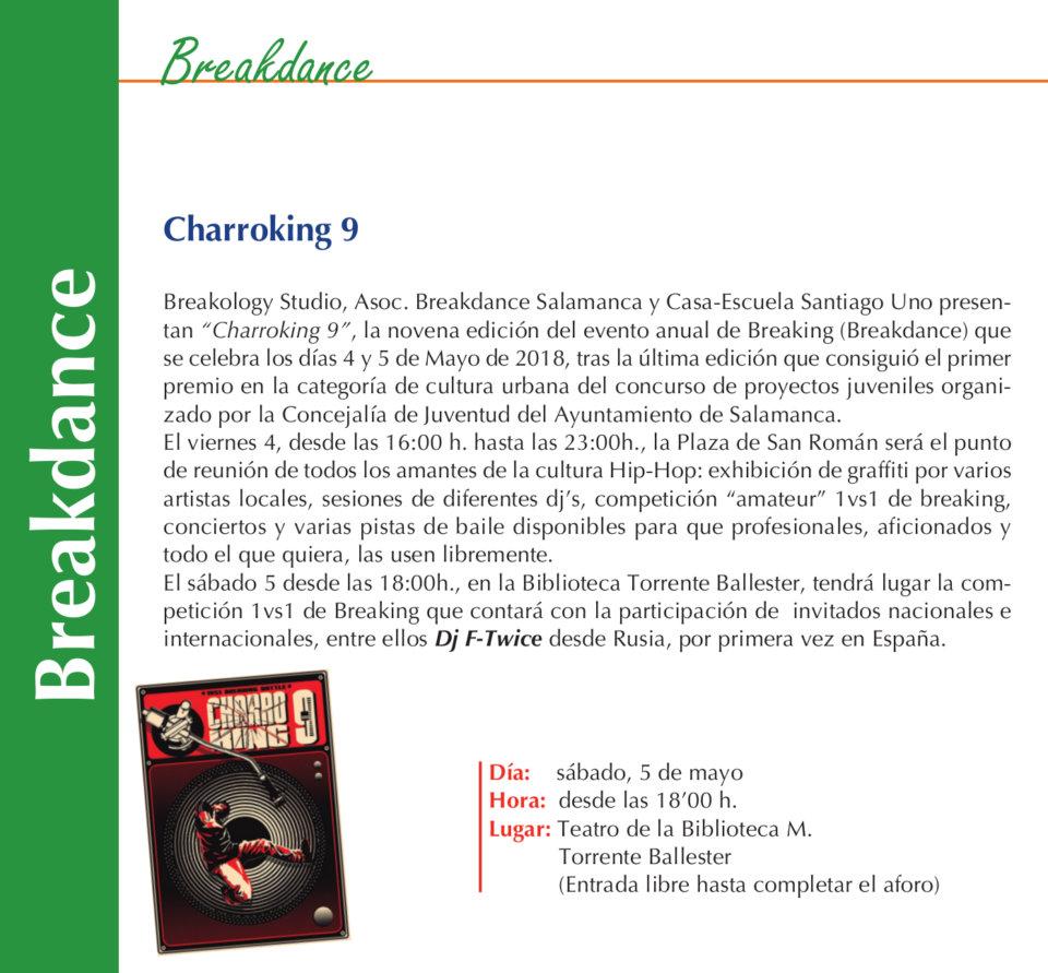 Torrente Ballester Charroking 9 Salamanca Mayo 2018