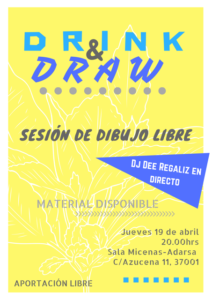 Sala Micenas Adarsa Drink & Draw Salamanca Abril 2018