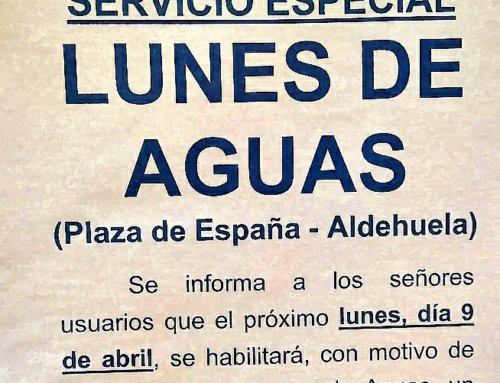 Servicio especial de autobuses para este Lunes de Aguas de 2018.