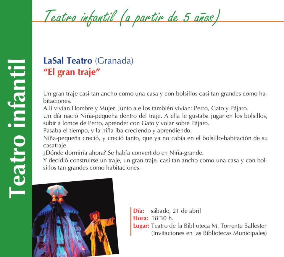 Torrente Ballester LaSal Teatro El gran traje Salamanca Abril 2018