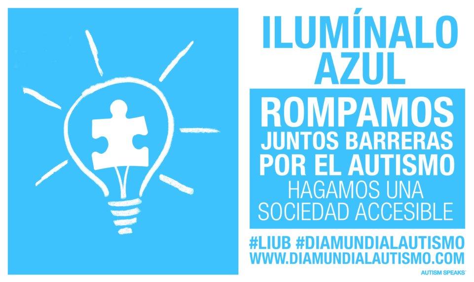 Puerta de Zamora Día de la Concienciación del Autismo Salamanca Abril 2018.