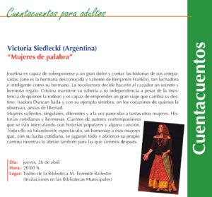 Torrente Ballester Victoria Siedlecki Mujeres de palabra Salamanca Abril 2018