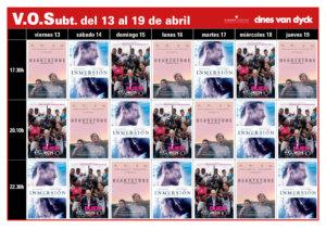 Cines Van Dyck Joven Filmo Van Dyck VOSE 13 al 19 de abril 2018 Salamanca