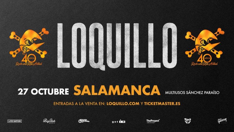Sánchez Paraíso Loquillo + Nat Simons Salamanca Octubre 2018