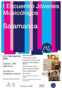 Facultad de Geografía e Historia I Encuentro Jóvenes Musicólogos Salamanca Mayo 2018
