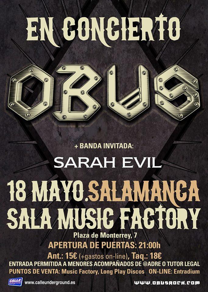 Music Factory Obus + Sarah Evil Salamanca Mayo 2018