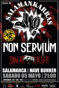 Nave Bunker Non Servium + Sangre Salvaje Villares de la Reina Mayo 2018
