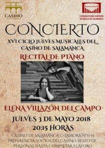 Casino de Salamanca Elena Villazón del Campo Conservatorio Superior de Música de Castilla y León COSCYL Mayo 2018