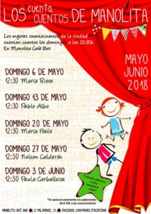 Manolita Café Bar Los cuentacuentos de Manolita Salamanca Mayo junio 2018